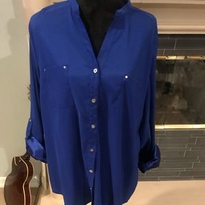 Dark Blue button up dress shirt